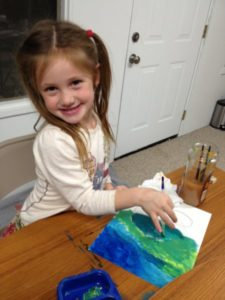 Alia Age 5 Learning About Cool Colors
